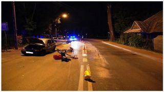 Wypadek na ul. Kościuszki w Brzozowie