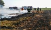 Pożar bali siana i ścierniska we Wzdowie