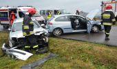 Dwa zdarzenia drogowe w Orzechówce