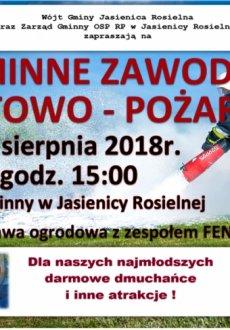Gminne zawody sportowo-pożarnicze w Jasienicy Rosielnej