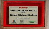 """Plebiscyt """"Nauczyciel na medal"""". Kinga Oleksa–Skubisz z ZSZ w Dynowie na czwartym miejscu na Podkarpaciu"""