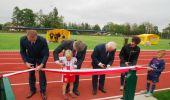 Otwarcie (po remoncie) stadionu lekkoatletycznego w Brzozowie. Brzozowskie biegi rodzinne 2017