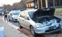 Zderzenie trzech aut w Niebocku