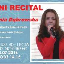 Mini recital  Ani Dąbrowskiej w Nozdrzcu