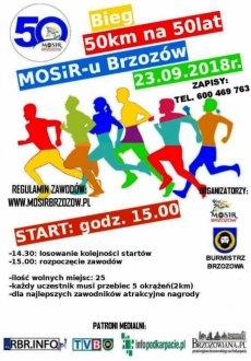 Bieg 50 km na 50-lecie MOSiR