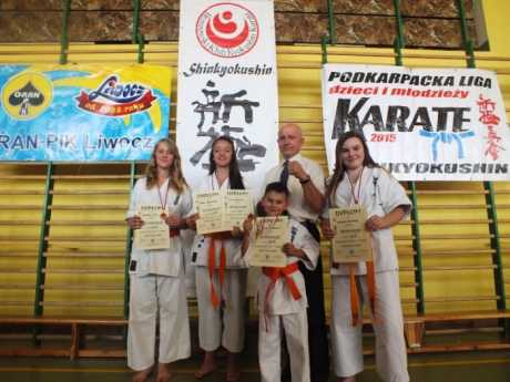 """""""Podkarpacka Liga Dzieci i Młodzieży w Karate Kyokushin"""" gościła w Brzozowie."""