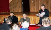 Zebranie wiejskie w Malinówce.