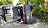 Orzechówka. Wypadek na drodze gminnej