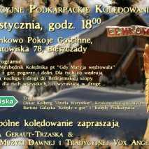 Kolędowanie z lirą korbową w Bieszczadach