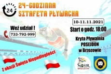 24 godzinna Sztafeta Pływacka MOSiR 2021