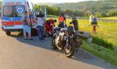 Motocyklista uderzył w betonową barierkę w Izdebkach