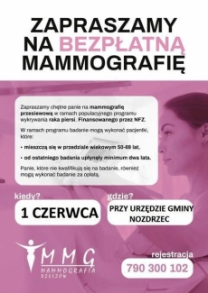 Nozdrzec. Bezpłatna mammografia