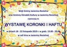 Wystawa koronki i haftu w Jasienicy Rosielnej