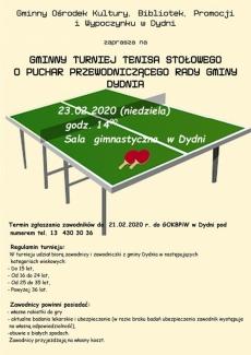Tenis stołowy - Dydnia