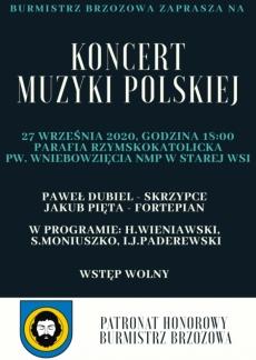 Koncert muzyki polskiej. Parafia Stara Wieś