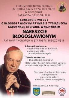 LO Brzozów. Konkurs wiedzy o prymasie Wyszyńskim