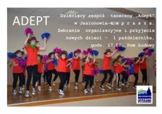 """Zespół taneczny """"Adept"""" zaprasza"""