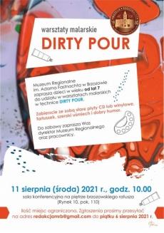 Muzeum Regionalne. Dirty Pour - warsztaty malarskie