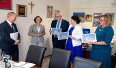 Wicewojewoda Lucyna Podhalicz na spotkaniu z samorządowcami powiatu w Brzozowie. Dodatkowe środki na drogi gminne i powiatowe…