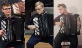 Filip i Dawid Siwieccy oraz Kacper Kosztyła - kolejny sukces sanockich akordeonistów, tym razem na Łotwie