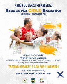 Nabór do sekcji piłkarskiej Brzozovia - Girls