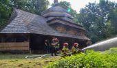 Przy cerkwi w Uluczu odbyły się ćwiczenia jednostek straży pożarnych