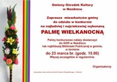 Konkurs palm Wielkanocnych. Nozdrzec 2021